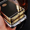Luxury Plating Metal Aluminum Frame Back Phone Cover Mirror Case For Samsung s6