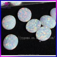 round double flat opal gemstone price of white stone