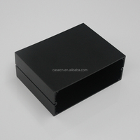 Black or customized color aluminum instrument enclosures for electric parts