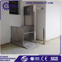Home small vertical hydraulic single person wheelchair lift