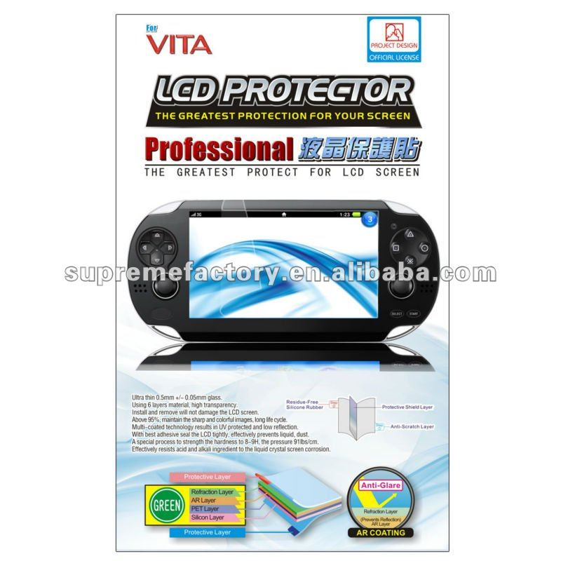 For PS Vita LCD Protector( Project Design )