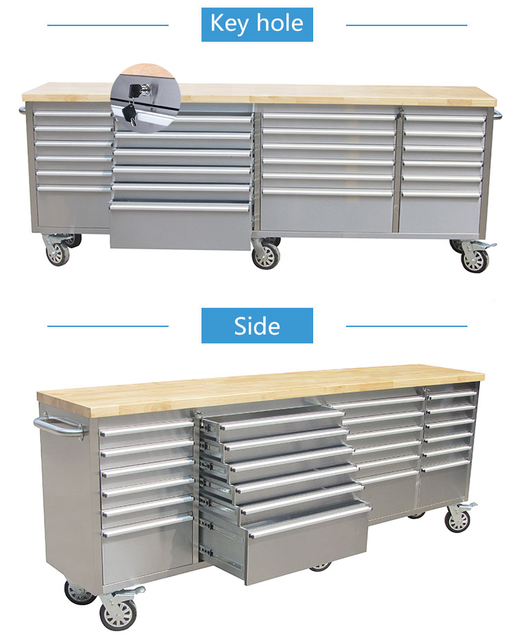 96 inch high end steel glide tool boxes