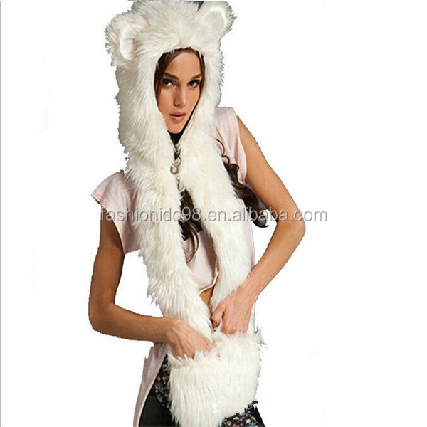 Favorites Compare Hot Sale Winter Animal Hat Scarf Gloves Hood Scarf Animal Winter Hat