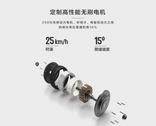 36v 6ah lithium battery 350w brushless dc motor 8inch tires hand brake kids kick big wheel folding electric scooter for adults