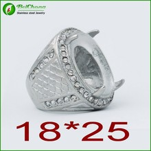 Crazy selling Indonesia stainless steel silver ring models for men ring