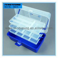 H0415 There Trays Plastic Multi-Function Fishing Box 36*19*20cm wood fishing tackle box