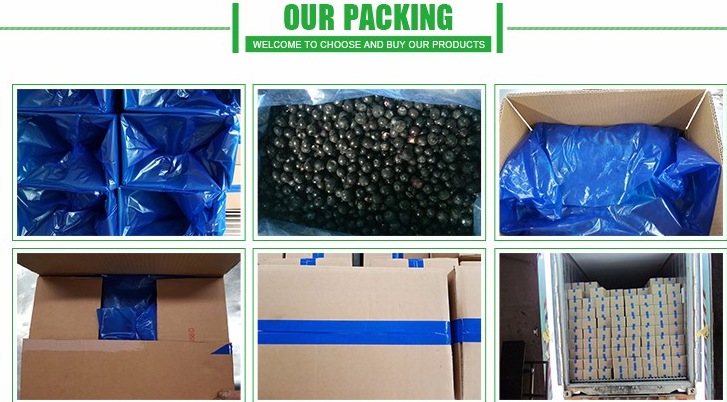 2017 New crop Chinese best quality frozen blueberry bulk prices
