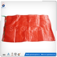 Alibaba China custom reusable poly mesh fresh vegetable packaging bag