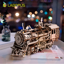 lagopus Creative DIY Laser Cutting 3D Wooden Puzzle Game Mechanical Model Assembly Toy Gift for Children Teens Adult