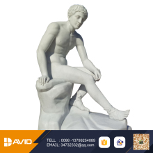 White marble stone sculpture