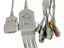 Mortara one piece ECG cable with lead,10 lead