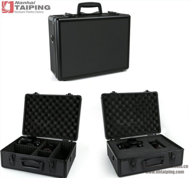 Professional aluminium camera case with Pre-Cut Diced Foam