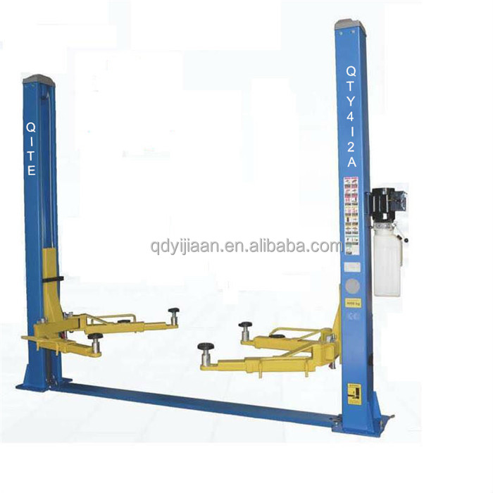 outdoor workshop used hydraulic double column auto car lift