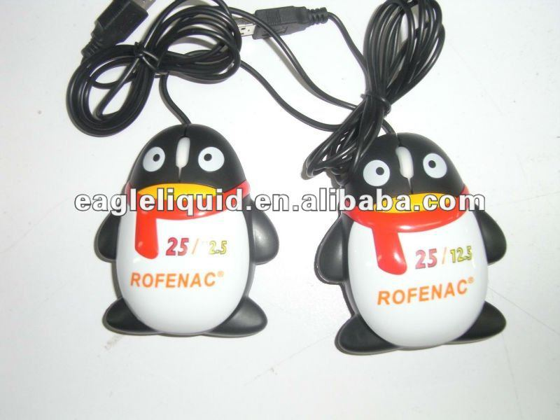 QQ funny USB2.0 floaters promotion computer mouses