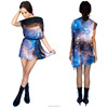 2016 summer new model digital print starry sky ladies casual dresses