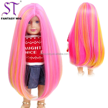 Most Popular Cheap Price 18 Inch American Girl Doll Wig Beautiful Colorful Synthetic Hair Wig