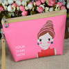 2015 Custom Make Up toiletry cartoon fashion elegant cosmetic makeup bag for girls