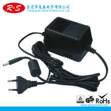 12V--100MA GS adapter with F connector and CE certification
