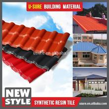 color lasting plastic panel /synthetic resin roofing tile / ASA coated