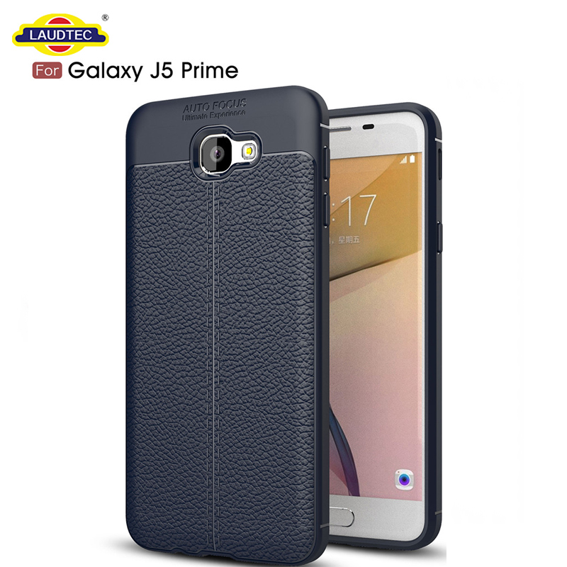 Mobile Phone Case Litchi Textured Silicone TPU Case for Samsung Galaxy J5 Prime