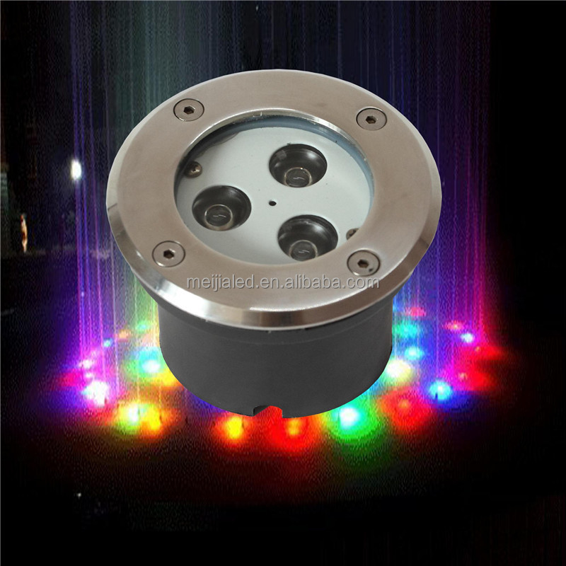 IP 68 pool waterfall led light 3W RGB