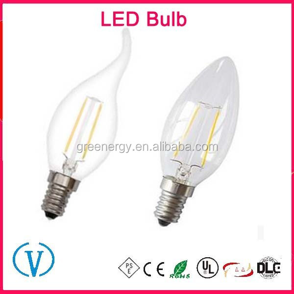Hot Sell Fastest delivery Triac Dimming C35 led e14 edison lightbulb
