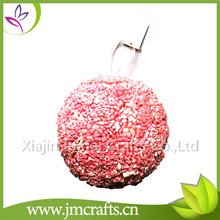 Cheap and good quality wedding decorative pink kissing ball with high quality