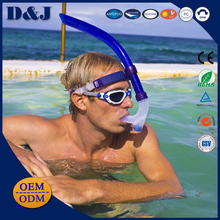 High Quality Soft Silicone Clear Breathing Swim Diving Snorkel in Watersports Diving Sports for Adults Teenagers