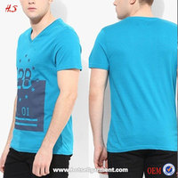Men's Clothing New Fashion Style V Neck T-Shirt Manufacturers China Wholesale Print Apparel In Alibaba