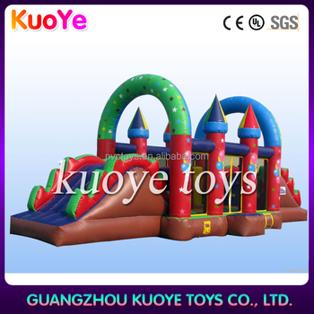 factory direct castle type inflatable playground on sale