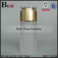 80ml frosted glass bottle with plug, empty packaging bottles, skin care cosmetic lotion bottle