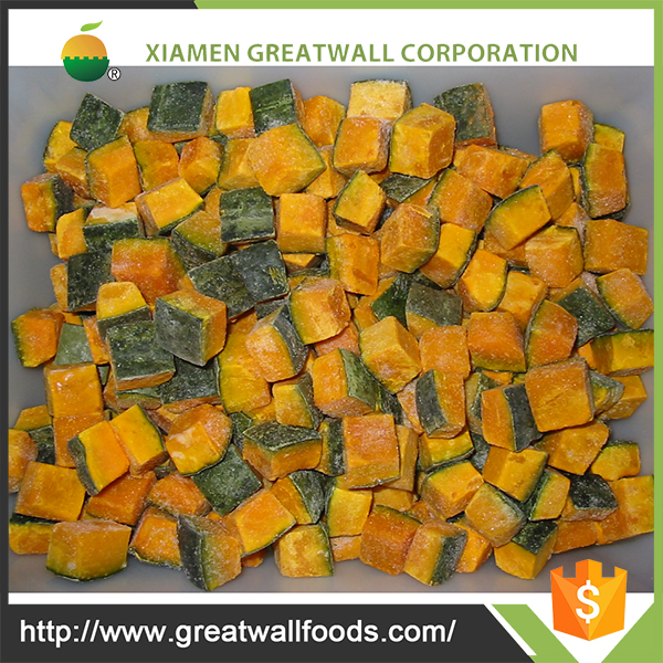 2017 wholesale Organic iqf frozen fresh pumpkin from China