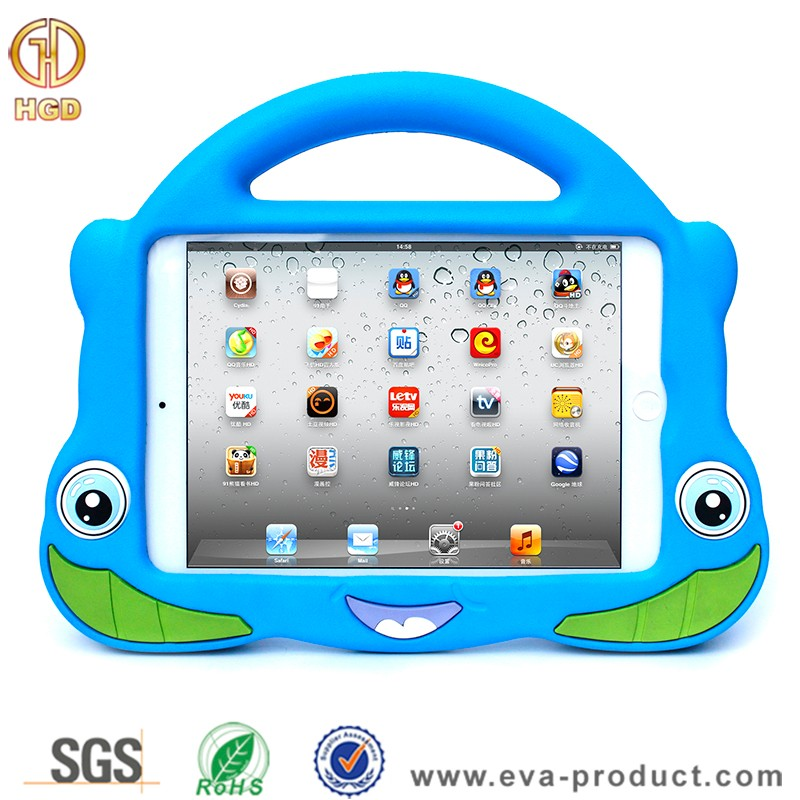 For ipad mini stand case, eva foam shockproof case for ipad mini 1 2 3