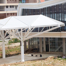 ourdoor waterproof tensile etfe film/membrane structure with steel structure use for tent membrane structure architecture