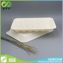 Low price biodegradable food trays take away food container disposable meat dishes
