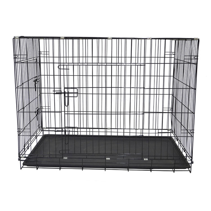 2018 Hot sale foldable wire decorative dog crate metal roof insulated dog house