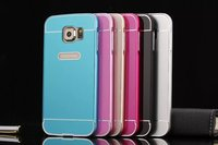 Metal bumper frame and PC back cover case for samsung galaxy s6,waterproof case for samsung galaxy s6