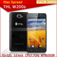 THL W200s 5 .0 inch HD screen MT6592W 1.7 Ghz octa core-CPU popular smart phone