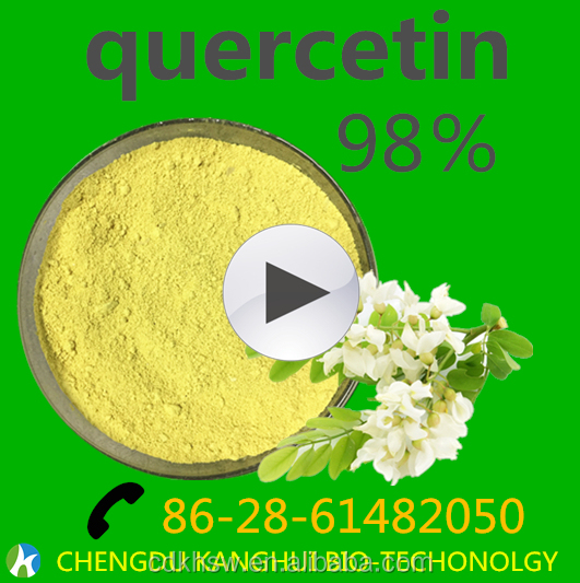 Chengdu Antioxidant enzyme Active food supplement Natural Antioxidant 95% Quercetin Dihydrate , cas no.:6151-25-3