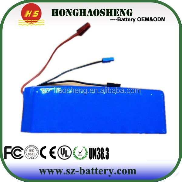 Small 12v rechargeable 18650 lithium ion 12v 20ah batteries for electric scooter