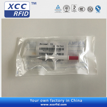 New design RFID Transponders animal Microchips Syringe