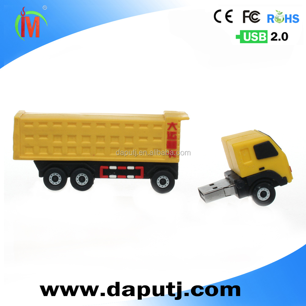 ome usb pen drive truck shape usb flash drive pvc customized usb memory stick with customized logo