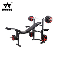 Multi gym station incline bench press with preacher curl bench