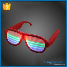 2015 New Design Sound Activated LED shutter shade sunglasses