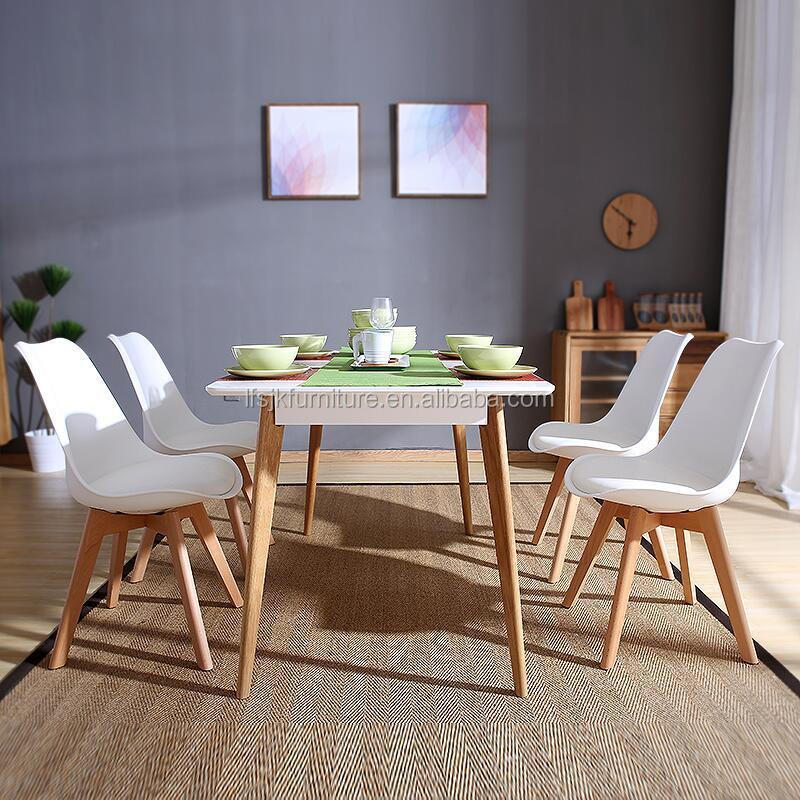 Set Of 4 Dining Chair Retro Dining Room Set Table Chairs Home Office Wooden  Legs - Buy Dining Table Chairs,Retro Dining Chair,Wooden Dining Chair ...