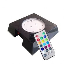 Cheap Remote Control Multi Color Wood 3d Crystal Led Light Base