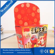 2016 alibaba Recyclable cardboard packaging 12 pcs pack chocolate box