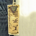 Custom Printed Cloth Hang Tag /Fabric Hangtag