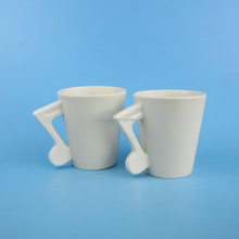 Blank Music Ceramic Mug with Musical Note Shape Handle