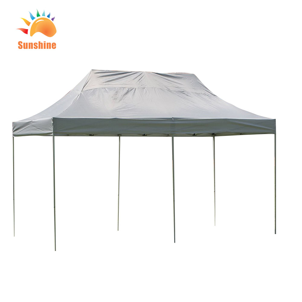 Waterproof aluminum pole canvas party tent EASY spring steel wire 3x6 pop up trade show tent